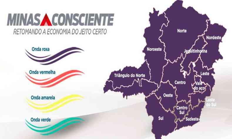 Os municípios são obrigados a seguir as regras estipuladas pela Onda Roxa(foto: Divulgação/Imprensa MG)