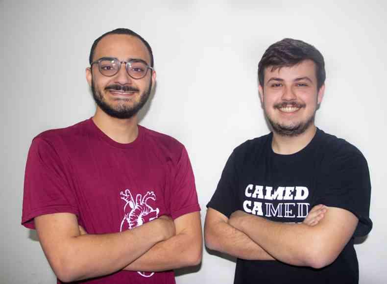 Os estudantes de medicina Túlio Castro e Henrique Neves, criadores do Cais, buscam a aproximação da universidade com projetos de saúde e desenvolvimento social da região.(foto: Arquivo pessoal)