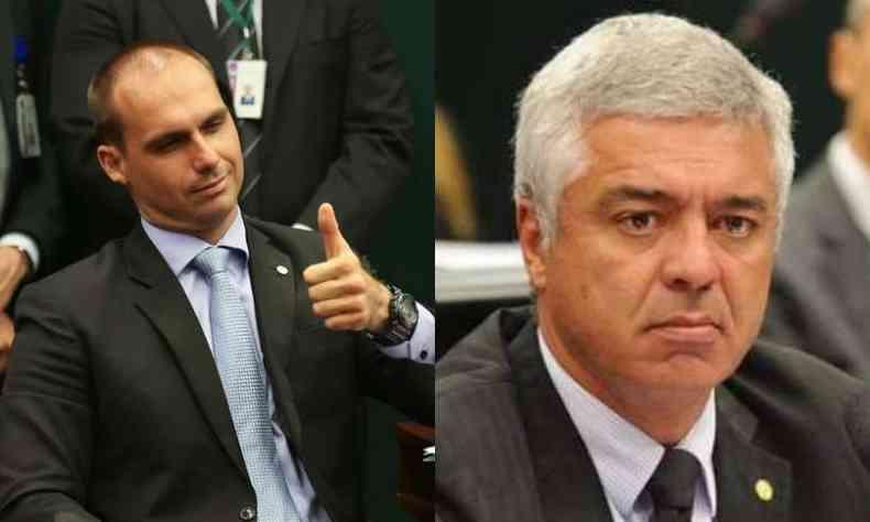 Deputado federal Eduardo Bolsonaro (PSL) e senador Major Olímpio (PSL) trocam ataques nas redes sociais(foto: Reprodução/Agência Brasil)