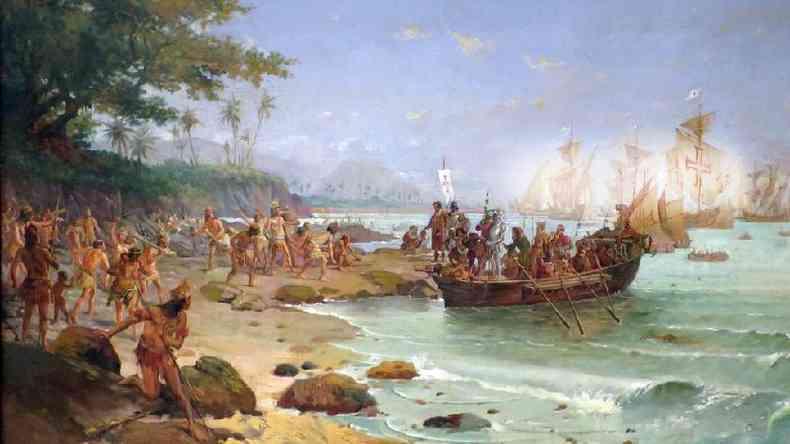 Frota de Cabral tinha nove naus, três caravelas e uma pequena embarcação com mantimentos(foto: Oscar Pereira da Silva)