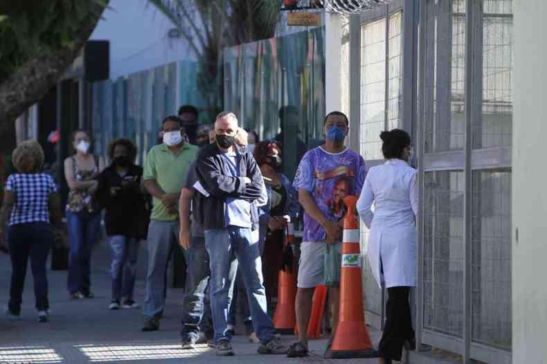 Prefeitura de BH contabiliza 1.317.820 aplicações da primeira dose contra a COVID-19 na capital(foto: Edésio Ferreira/EM/DA Press)