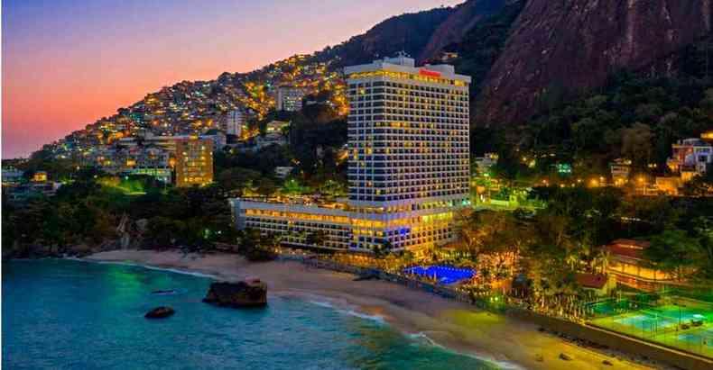 Localizado na Praia do Leblon, o Sheraton, que faz parte da Marriott International, completou 45 anos e passou por reforma de US$ 55 mi(foto: Sheraton/Divulgação)