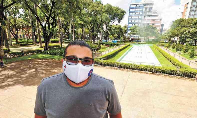 Carlos Philippe Alves de Deus, motorista de aplicativo em BH: