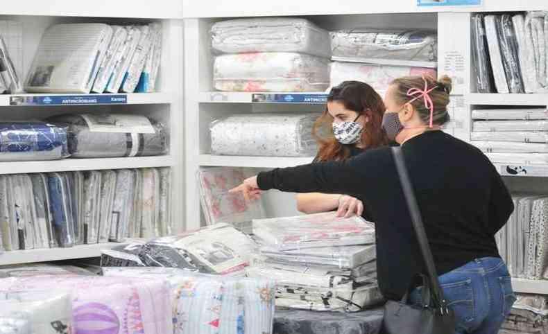 Lojas de enxovais aproveitam queda nas temperaturas para esquentar vendas(foto: Gladyston Rodrigues/EM/D.A Press)