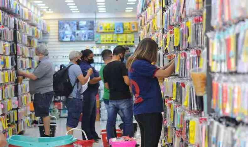 Expectativa é de grande movimentação nas lojas da capital(foto: Leandro Couri/EM/D.A Press)