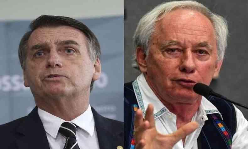 Jair Bolsonaro e Carlos Minc(foto: Agência Brasil/Reprodução)