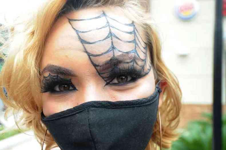 Maquiagens bem elaboradas para o Dia das Bruxas(foto: Alexandre Guzanshe/EM/DA PRESS)