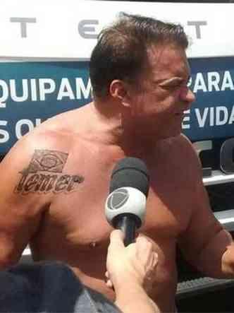 Wlad apareceu com a tatuagem na véspera da votação de denúncia contra Temer(foto: Reprodução)