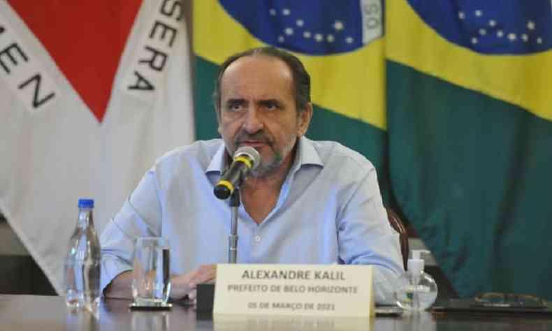 Prefeito criticou a possível corrupção no Ministério da Saúde(foto: Alexandre Guzanshe/EM/D.A Press)