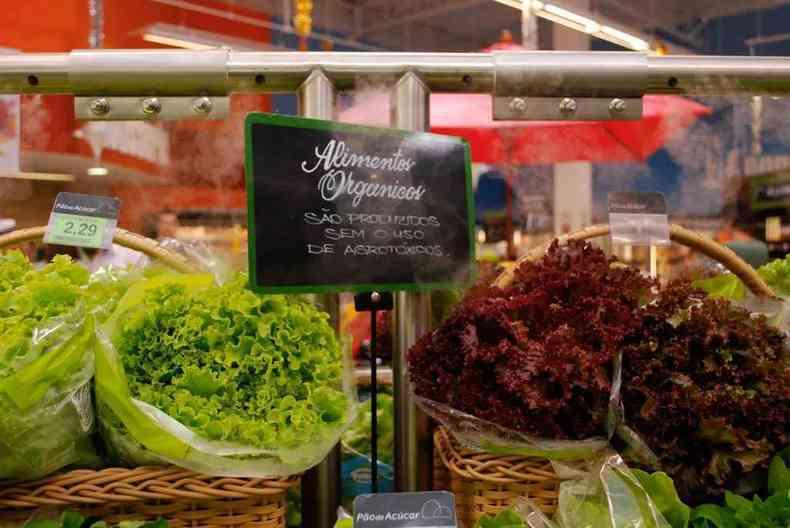 Os alimentos orgânicos fazem bem à saúde e ao meio ambiente, mas são mais caros(foto: Augusto Fidalgo/Divulgação)
