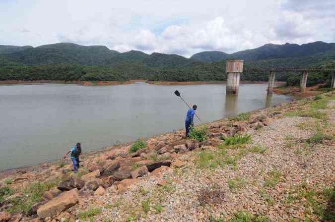 Represa de Rio Manso, a maior do sistema, está com 76,9% de seu volume(foto: Beto Novaes/EM/D.A Press - 27/01/2016)