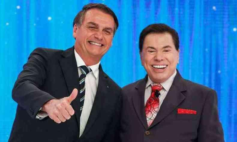Bolsonaro participou do Programa Silvio Santos, em maio passado (foto: Alan Santos/PR)