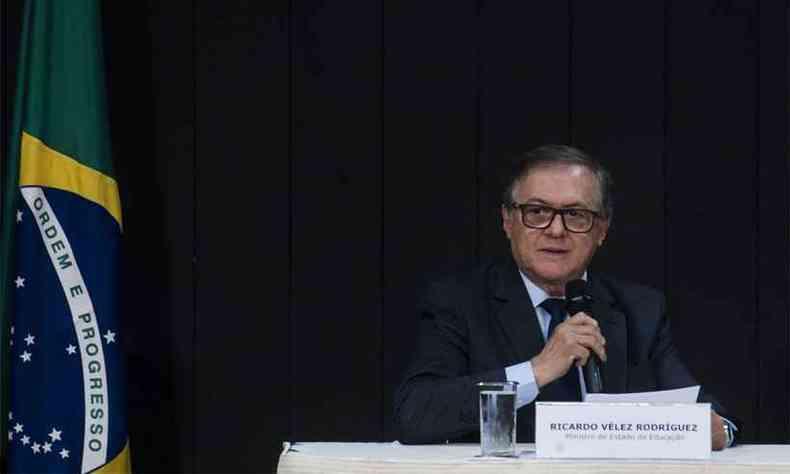 Vélez Rodríguez citou Cazuza ao ser questionado sobre se liberdade não incluiria ensinar marxismo, fascismo e liberalismo(foto: Marcello Casal jr/Agência Brasil )