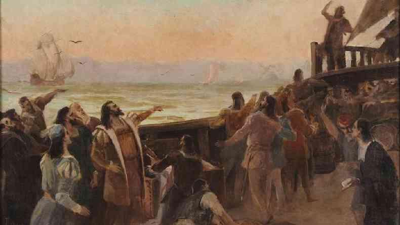 Ao todo, os 13 navios transportavam 1,5 mil homens, entre médicos, boticários, religiosos, calafates e até condenados à morte que aceitavam trocar sua pena pelo exílio(foto: Museu Histórico Nacional)