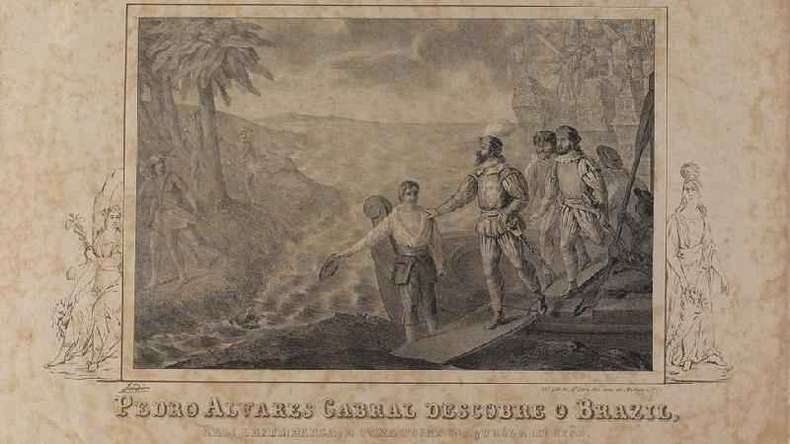 Durante toda a viagem, os marinheiros dormiam no convés, ao relento, em colchões de palha(foto: Fundação Biblioteca Nacional)