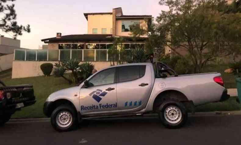 Auditores da Receita Federal também participaram das buscas nesta manhã(foto: Receita Federal Divulgação)