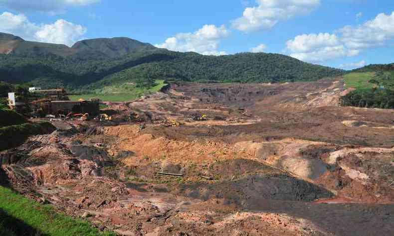 Estrago após o rompimento da barragem 1 em Brumadinho: MP questiona segurança de operações da Vale(foto: Gladyston Rodrigues/EM/D.A Press)