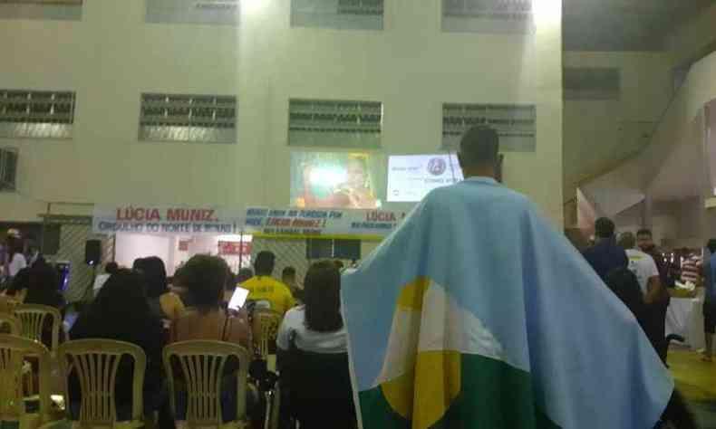 Parentes e amigos se reuniram em Montes Claros para torcer por Lúcia Muniz(foto: Luiz Ribeiro/EM/D.A Press)