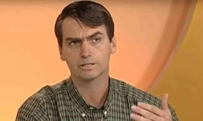 Jair Bolsonaro durante entrevista, em 1999, quando ainda era deputado federal(foto: Reprodução/Youtube)