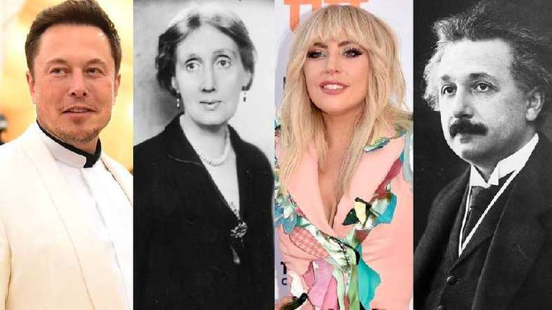 Elon Musk, Virginia Woolf, Lady Gaga e Albert Einstein são exemplos de gênios do passado e do presente segundo Wright(foto: Getty Images)