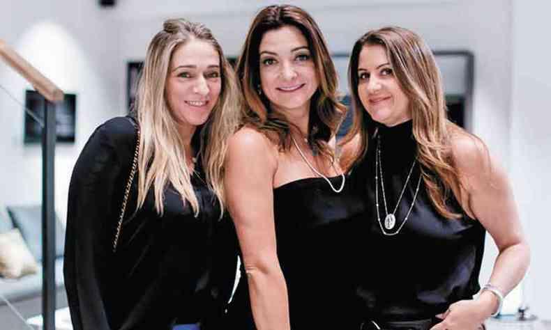 Jaqueline Frauches, Claudia Sabino e Marinela Guimarães, que também sopra velas hoje(foto: Marcos Vieira/em/d.a press)