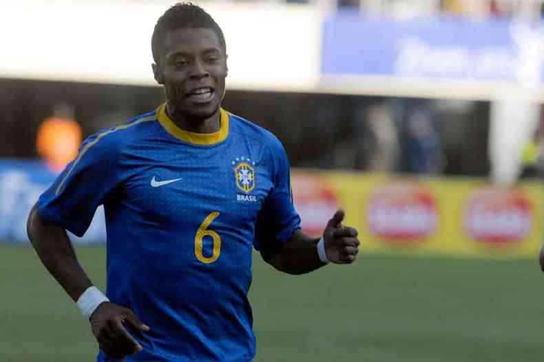 Michel Bastos disputou a Copa do Mundo na África do Sul com a Seleção Brasileira em 2010(foto: Iano Andrade/CB/D.A Press - 2/6/10)