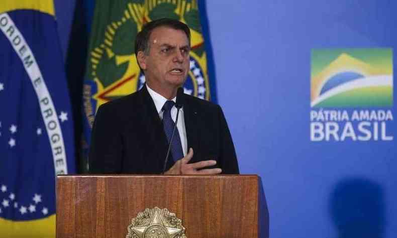 Bolsonaro usou recuo na Alemanha para apoiar sua posição contrária ao lockdown na pademia(foto: Antonio Cruz/Agência Brasil)